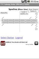 Screenshot of TTC Subway Efficiency Guide