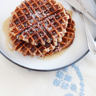 Banana Coconut Waffles (or Pancakes)