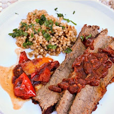 Coffee-Rubbed Beef Brisket With Parsley Couscous