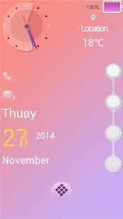 Pink Thoughts Lock Theme - screenshot