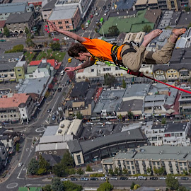 Jump for joy by Vibeke Friis - Sports & Fitness Other Sports ( bungy jumpers, inspiring, queenstown, free, freedom, inspire, new zealand, emotion, inspirational )