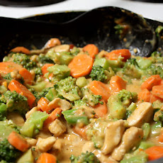 May 25 Chicken and Broccoli in Peanut Sauce
