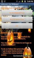 Screenshot of Halloween Free Live Wallpaper