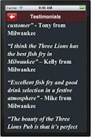 Screenshot of Three Lions Pub Milwaukee