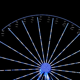blue and white wheel by Vicki Nicely Towe - Novices Only Objects & Still Life