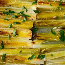 Braised Leeks with Lemon and Parsley