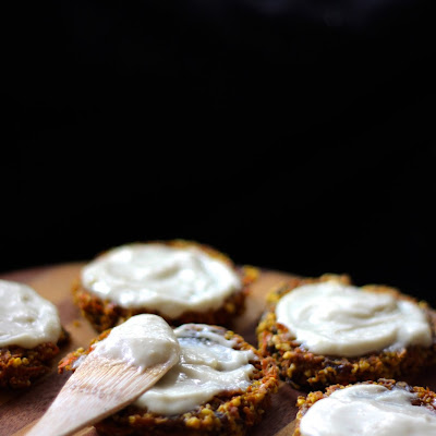 CARROT CAKE COOKIES with LEMON CREAM FROSTING