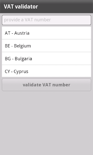 VAT validator