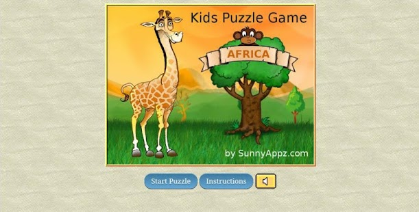 Kids Puzzle Game - Africa - screenshot