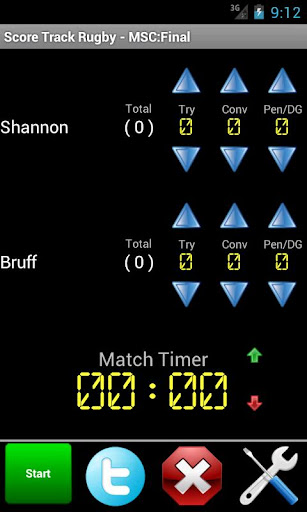 Score Track Rugby