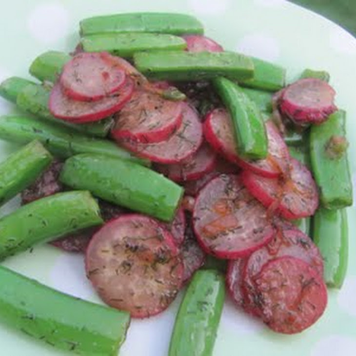 Sauteed Radishes and Sugar Snap Peas Recipe | Yummly