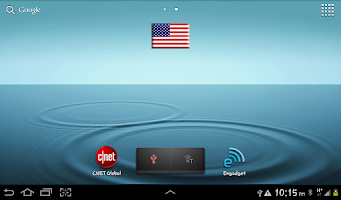 Screenshot of US Flag Widget