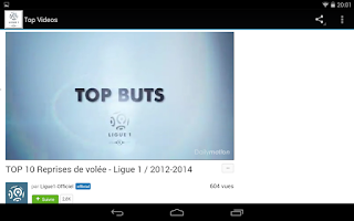 Screenshot of FootBall Ligue1 Infos