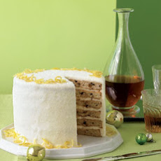 Layered Fruitcake with Creme Fraiche Frosting