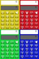 Screenshot of Colorful calculator