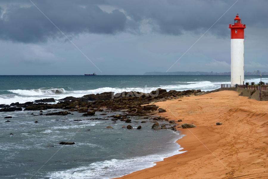 Umhlanga Beach - Kwazulu Natal by Jose Longueira - Landscapes Beaches ( blue, relax, beach, sunset, relaxing, #beach#sea#fun#holiday#lighthouse, tranquil, tranquility, ocean., water )
