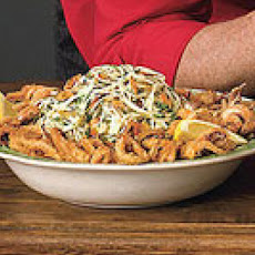 Rocky's Christmas Eve Calamari with Nutty Angel Hair