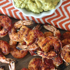 Spicy Grilled Shrimp with Easy Guacamole