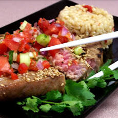 Davey's Broiled Yellowfin Tuna and Relish