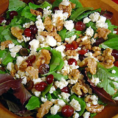 Just Like Dewey's Candied Walnut and Grape Salad