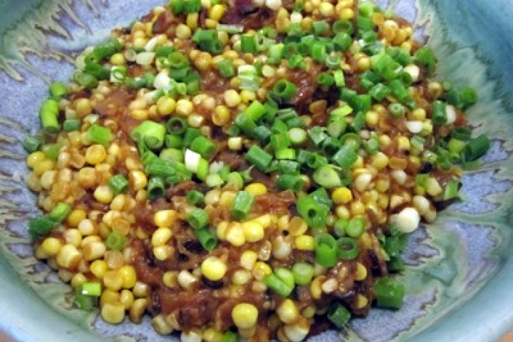 Sauteed Corn with Bacon and Scallions