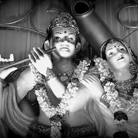 God! by Soumya Biswal - Buildings & Architecture Statues & Monuments ( sculpture, statue, black and white, art, gods )