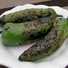 Roasted Fresh Chilies Like Poblanos Jalapenos Bell Peppers..