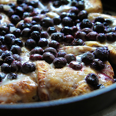 Blueberry Lemon Skillet Rolls