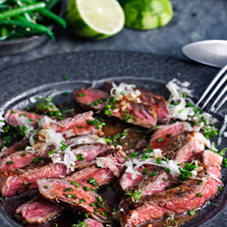 Rib-eye Steak With Daikon And Ponzu Dressing
