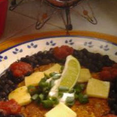 Fiesta Corn Cake with Black Beans & Lime