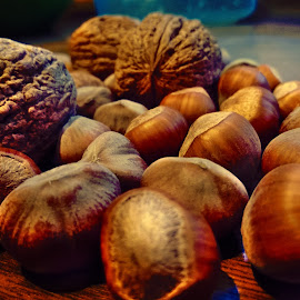 nut rapsody by Emina Dedić - Instagram & Mobile Other ( hazelnuts, autumn, colors, nuts, harvest, autumn colors, walnuts, colours )