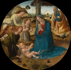 RIJKS: Cosimo Rosselli: The Adoration of the Christ Child 1507