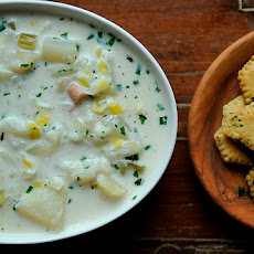 Three Onion Chowder with Parsleyed Oyster Crackers