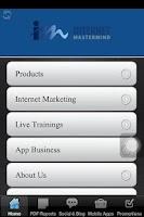 Screenshot of Internet Marketing Company App