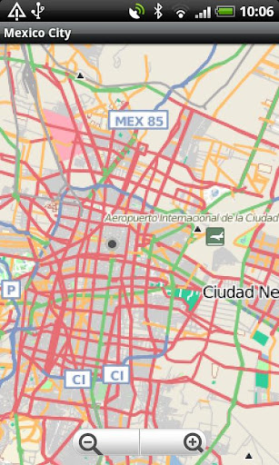 Mexico City Street Map