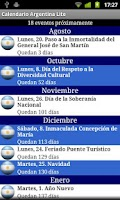 Screenshot of Calendario Feriados Argentina