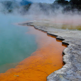 Champagne Pool by Milou Krietemeijer-Dirks - Landscapes Travel ( chanpagne pool, new zealand, hot spring,  )