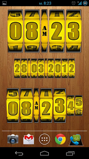3D Rolling Clock GOLD