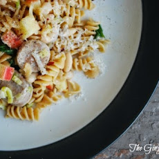 Sweet Apple Chicken Sausage Pasta (from Iowa Girl Eats)