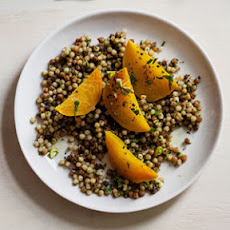 Golden Beets with Parsley Pesto and Fregola