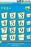 Screenshot of Multiplication Tutor II
