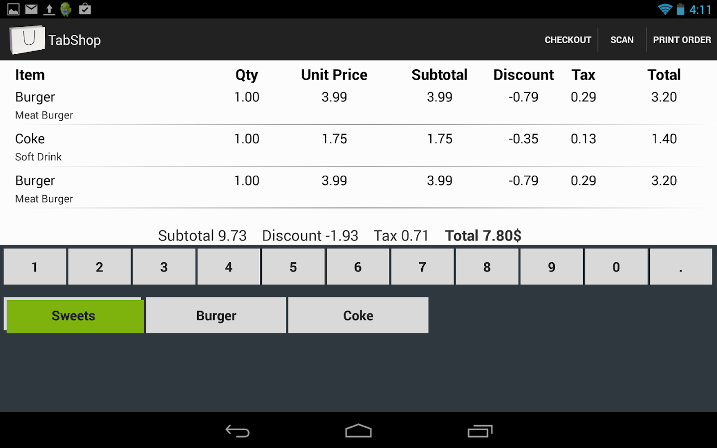 TabShop Point of Sale POS PRO Screenshot 9