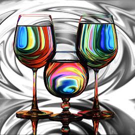 Twirls #3 by Rakesh Syal - Artistic Objects Glass (  )