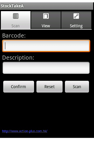 StockTake barcode scanner