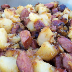 Fried Potatoes With Onion and Kielbasa