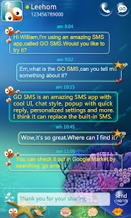 GO SMS Pro Seabed Super Theme - screenshot