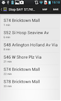 Screenshot of NYC Bus Time For All MTA / NYC