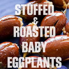 Roasted and Stuffed Baby Eggplants