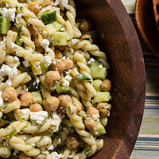 Dill, Chickpea, and Feta Pasta Salad Recipe