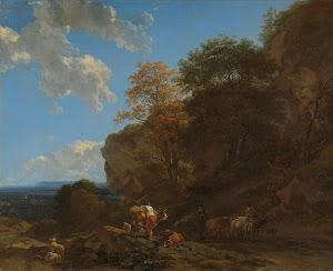 RIJKS: Nicolaes Pietersz. Berchem: Italian Landscape 1683